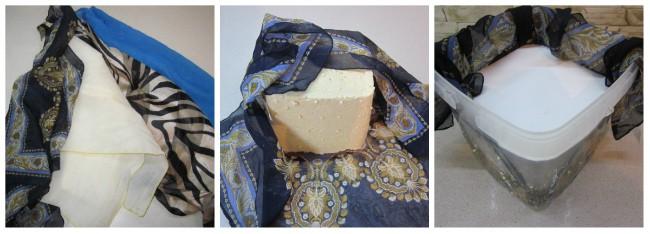 Уложить сыр в платок фото