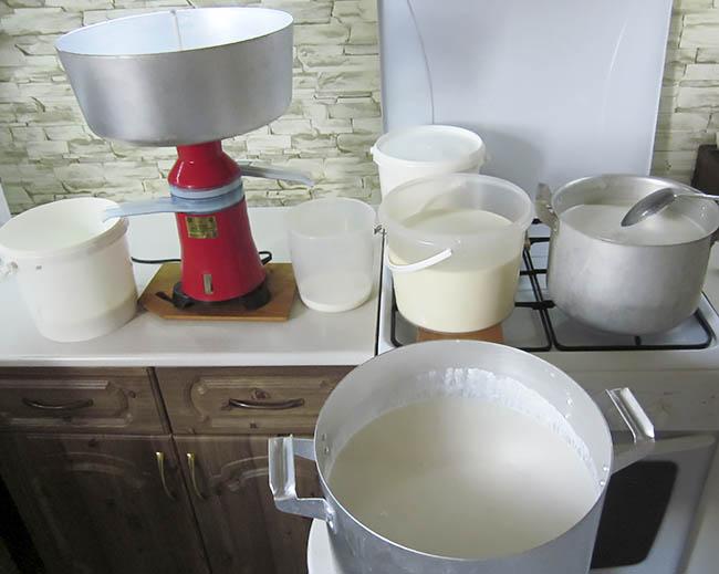 Сепарирование козьего молока