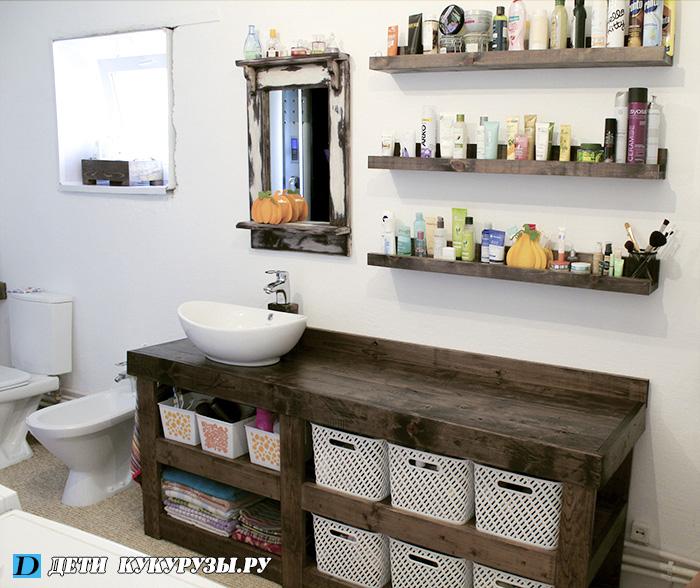 Мебель в ванной комнате своими руками фото